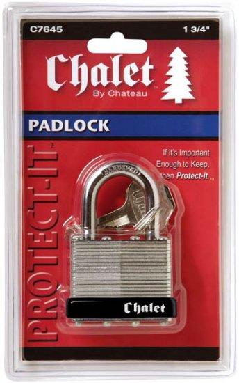 Chalet By Chateau 1 3 4 Quot 45mm Laminated Padlock 61